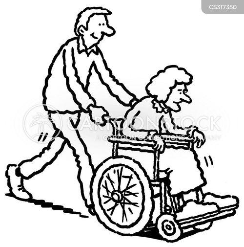 elderly ladies cartoon