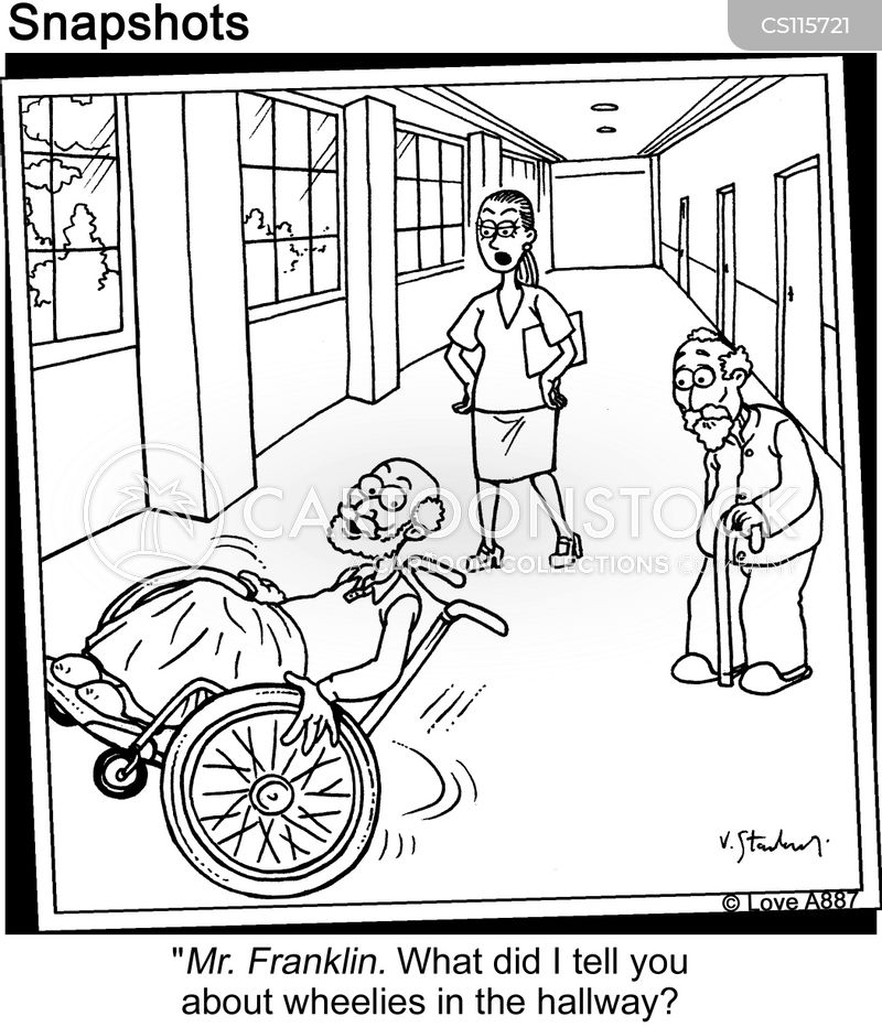 hallway cartoon