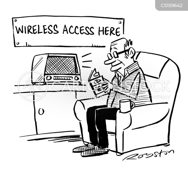 wireless access cartoon