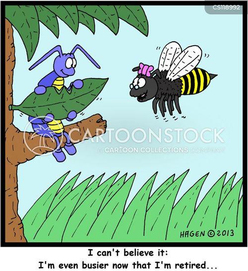 old bee cartoon