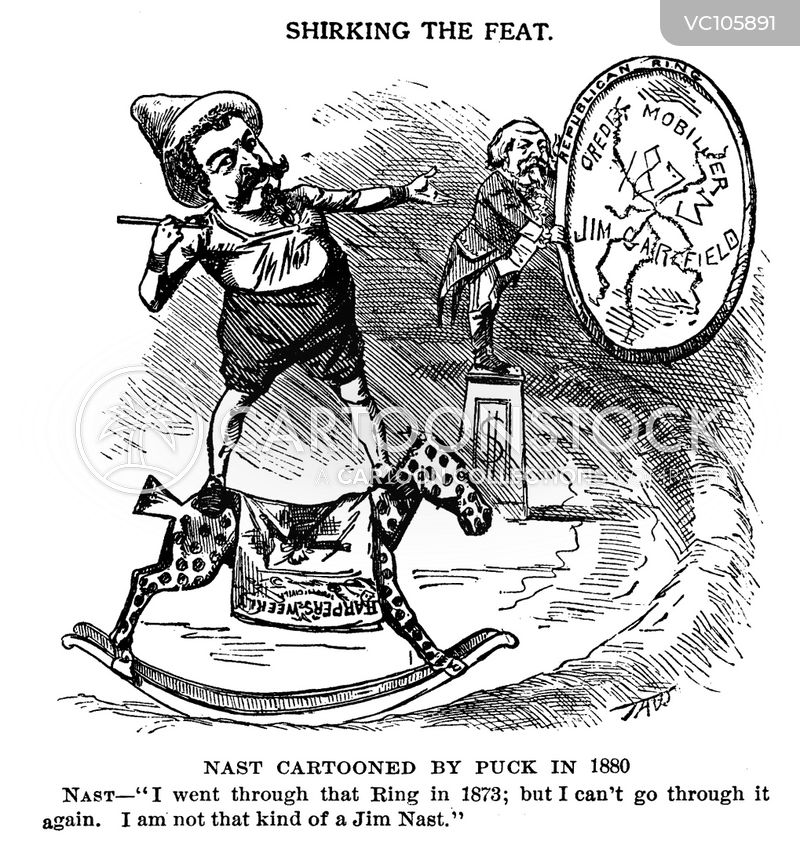 James Garfield Vintage and Historic Cartoons