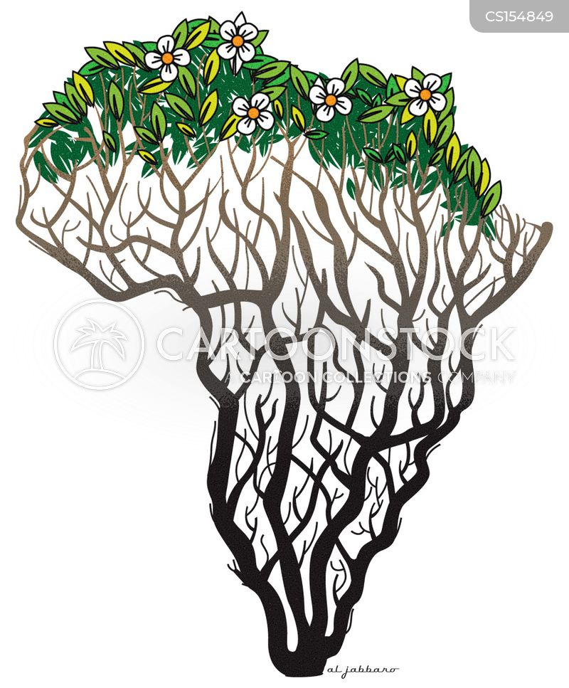Africa Map Cartoons And Comics Funny Pictures From Cartoonstock