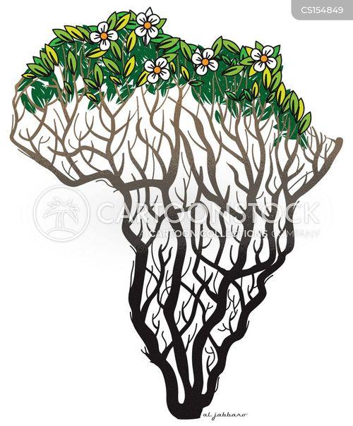 Africa Cartoon Drawing Africa Map Cartoon 1 of 1