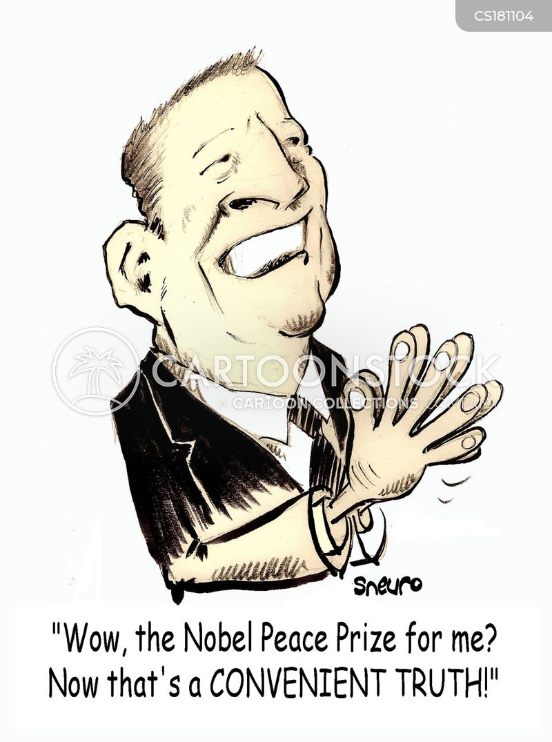 peace prize cartoon