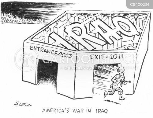 american troops cartoon