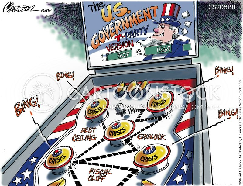 political gridlock cartoon