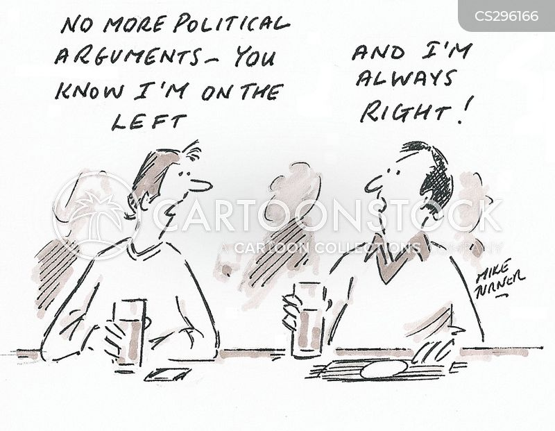 talking politics cartoon