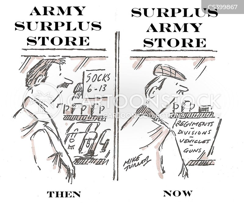surplus cartoon