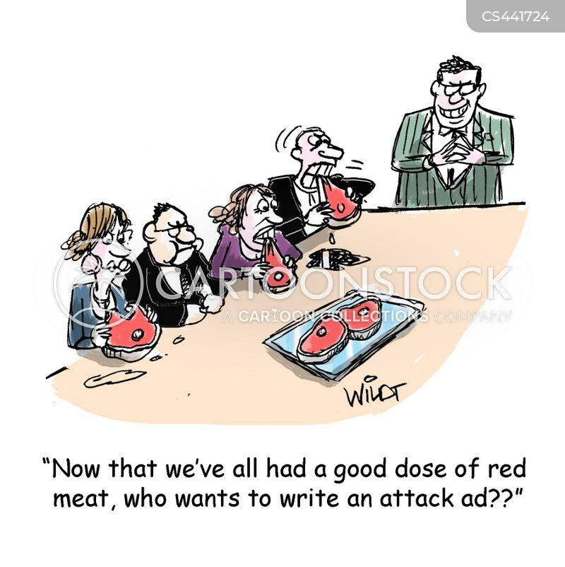red meat cartoon