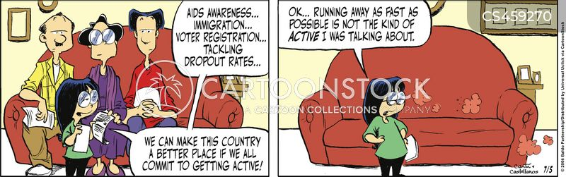 voter activity cartoon