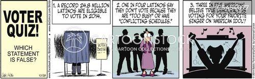 voter turnouts cartoon