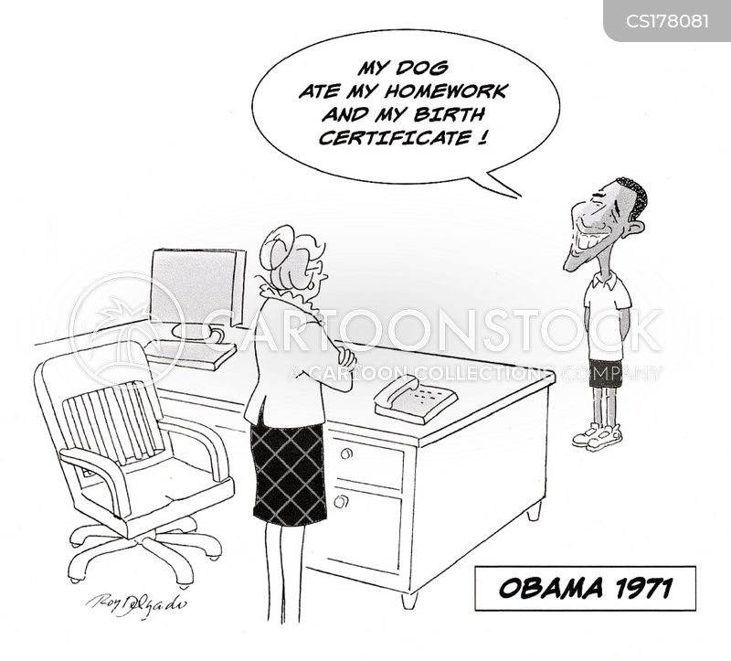 birth certificate cartoon