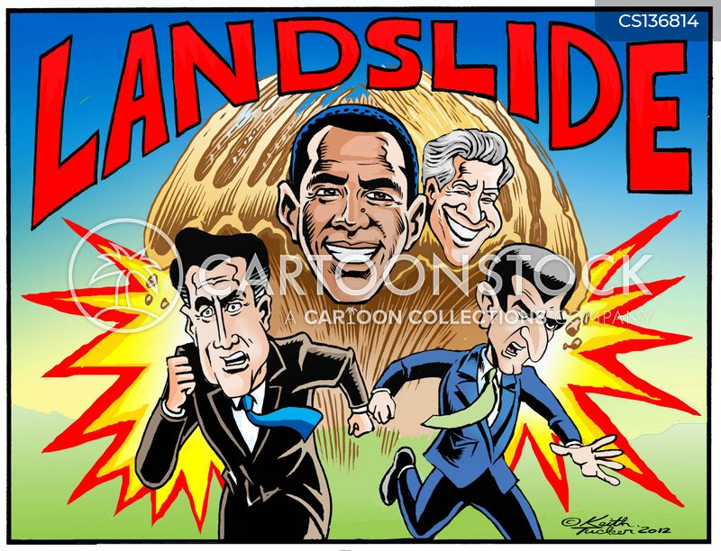 landslide cartoon