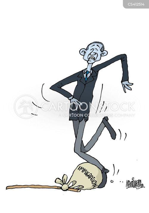 border crisis cartoon