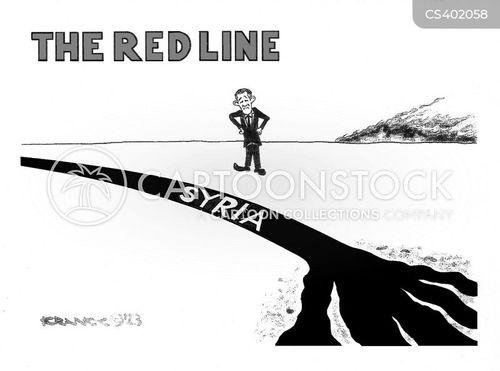 red lines cartoon