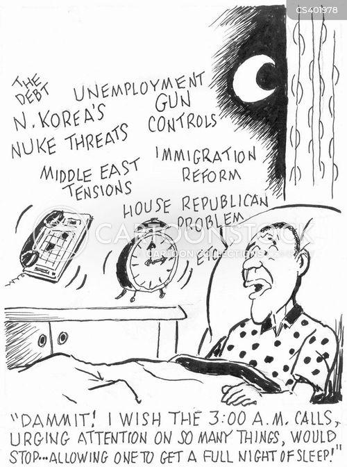 sleepless night cartoon