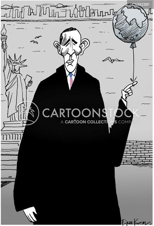 military intervention cartoon