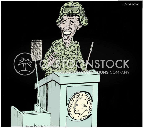 military strikes cartoon