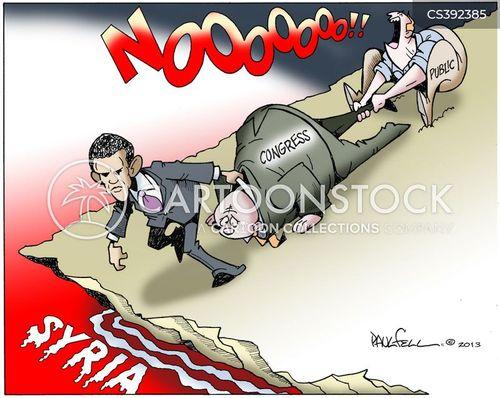 military action cartoon