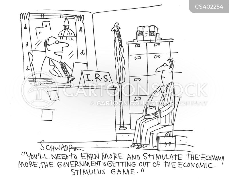 stimulus packages cartoon