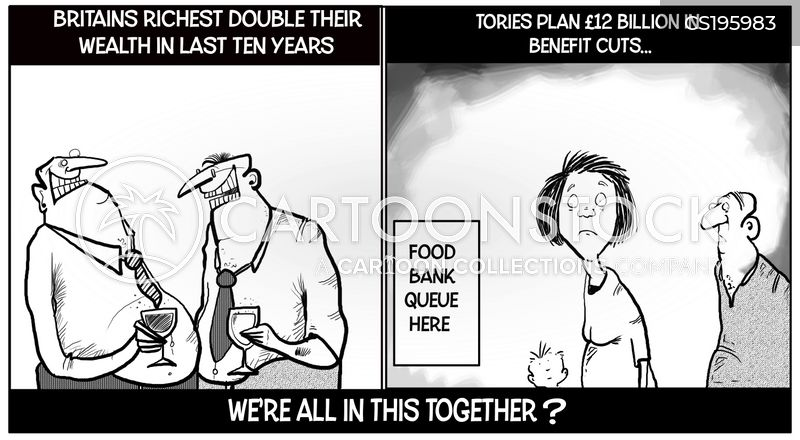 benefits cut cartoon