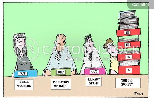 public sector cut cartoon