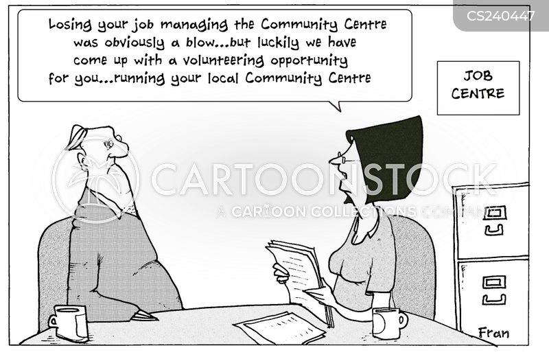 volunteered cartoon