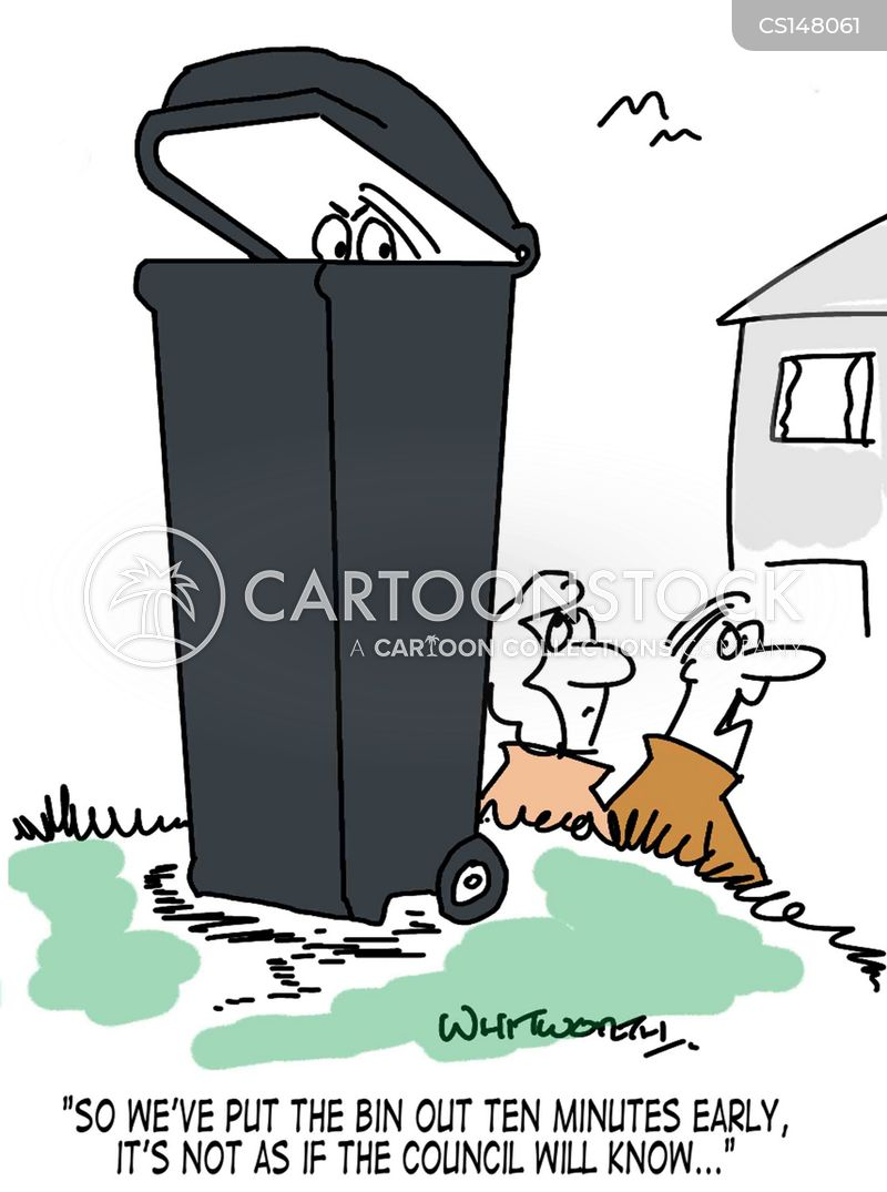 waste collections cartoon