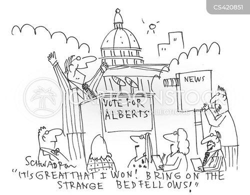 bedfellow cartoon