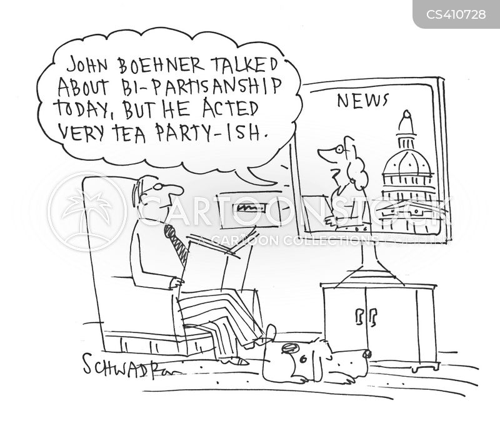 partisanship cartoon