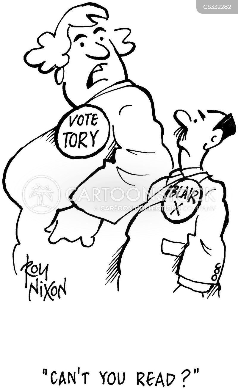 party supporters cartoon