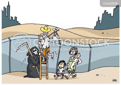 border checks cartoon