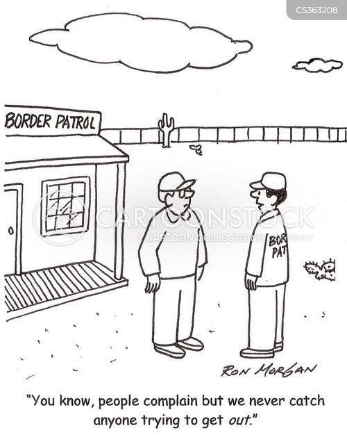 border officer cartoon