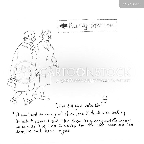 ballot box cartoon