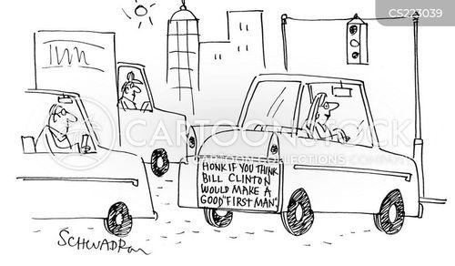 first ladies cartoon