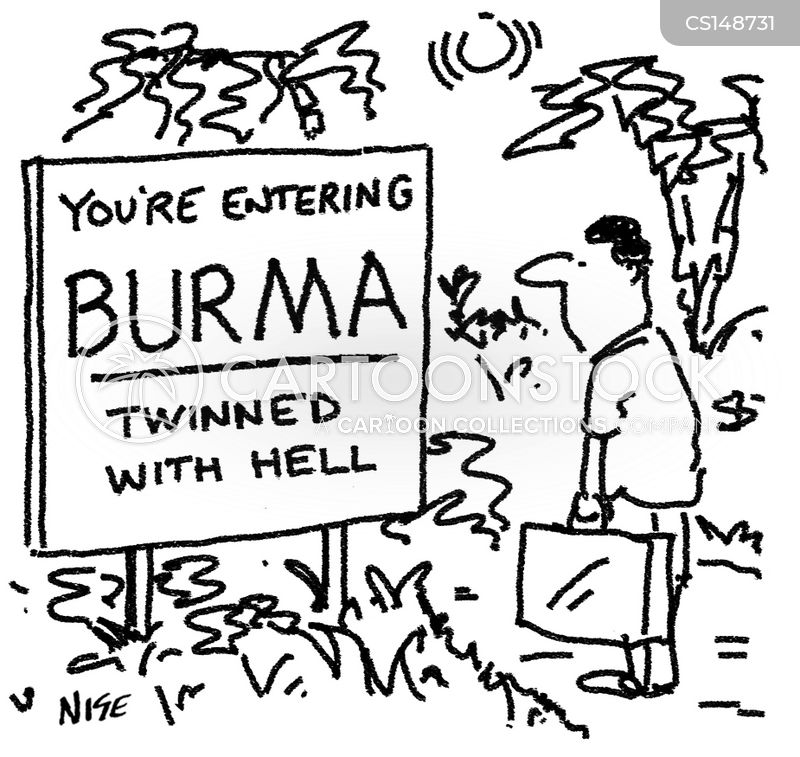 burma cartoon