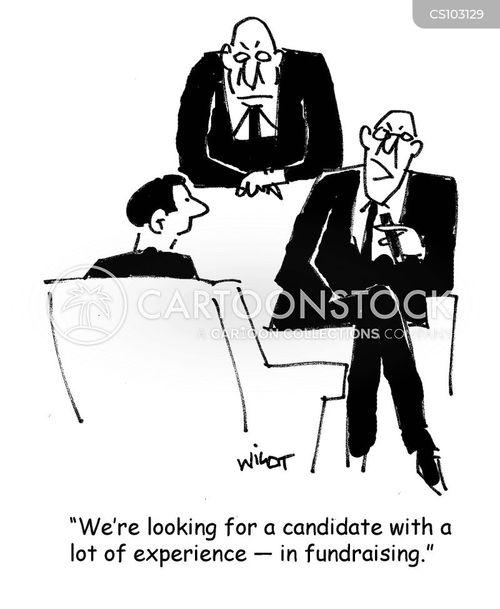 fund-raisers cartoon
