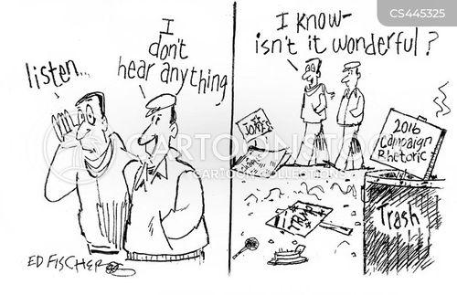 political campaigning cartoon