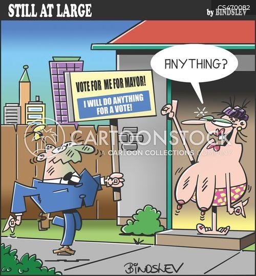 mayoral election cartoon