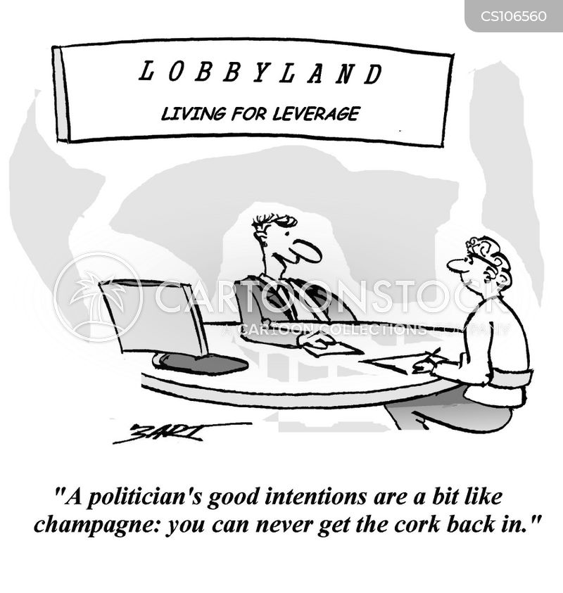 political lobbyists cartoon