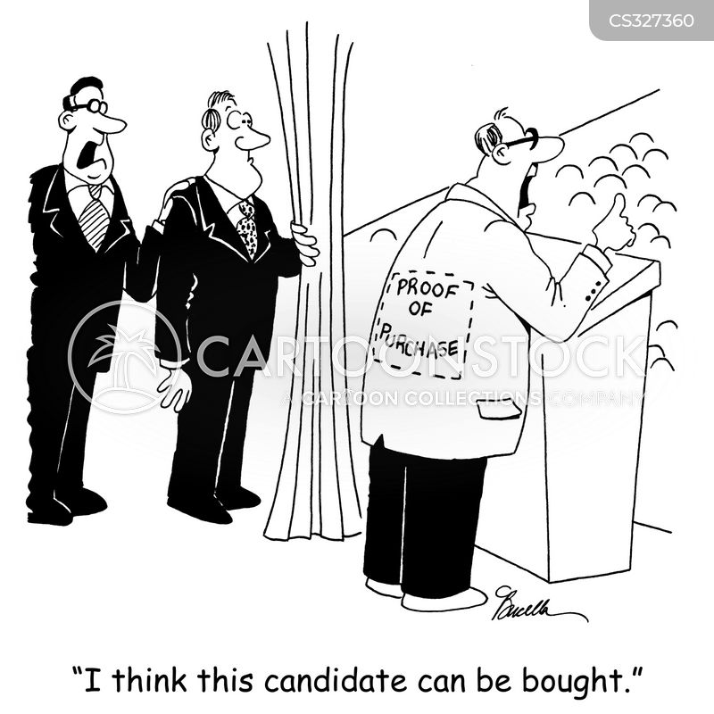 crooked politician cartoon