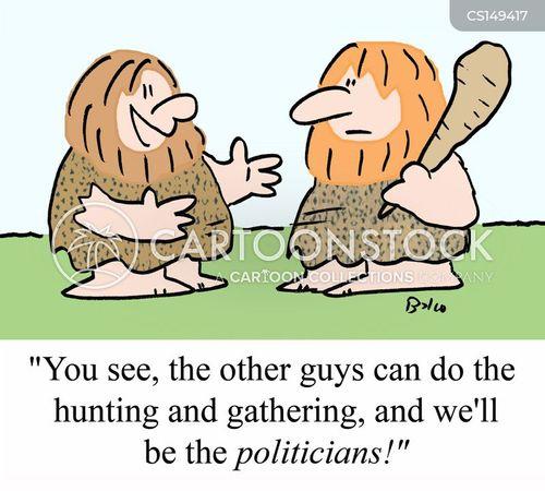 hunter-gathering cartoon