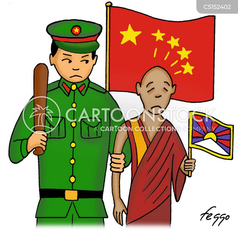 Tibet cartoons, Tibet cartoon, funny, Tibet picture, Tibet pictures, Tibet image, Tibet images, Tibet illustration, Tibet illustrations
