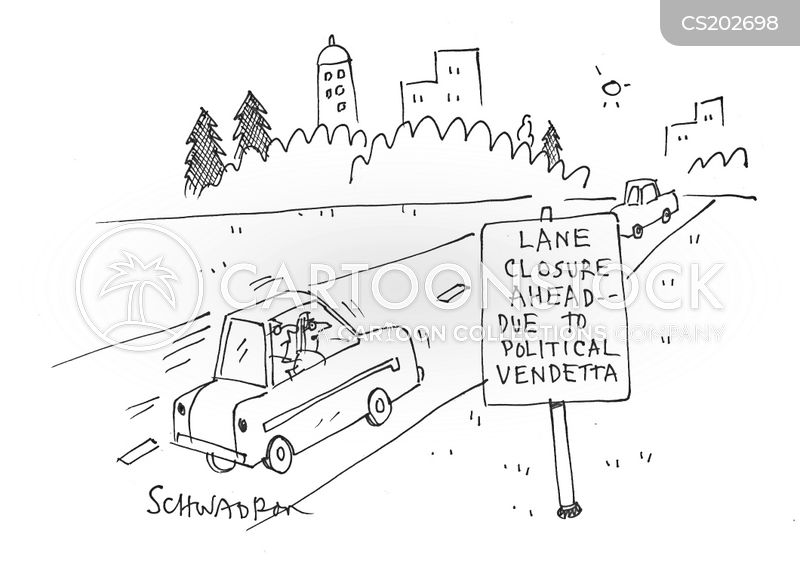 lane closures cartoon