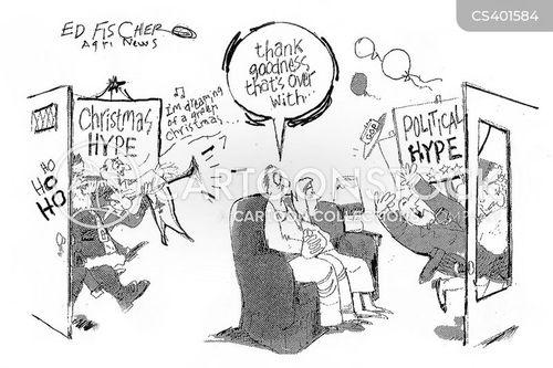 christmas hype cartoon