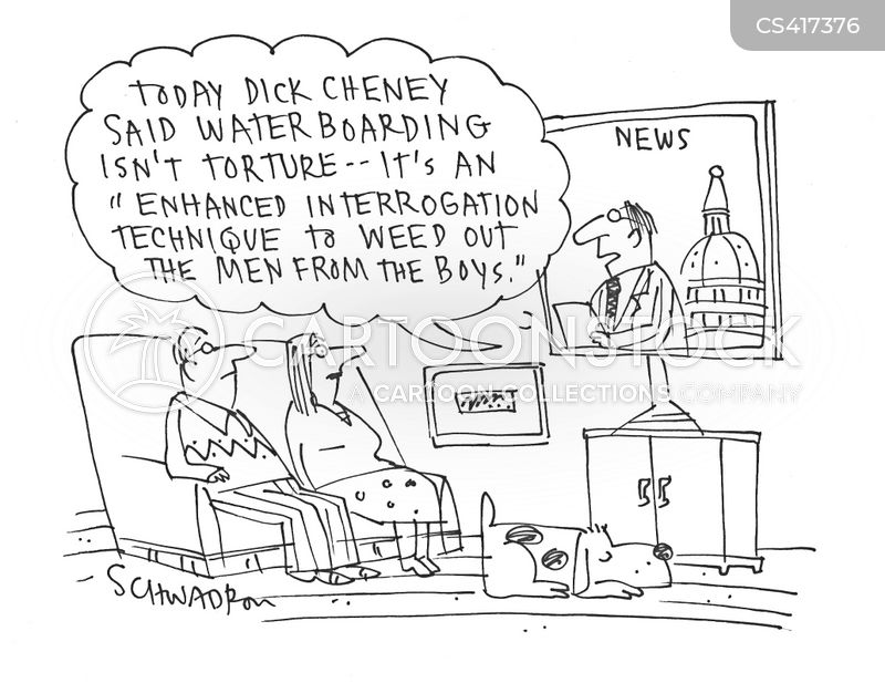 waterboarding cartoon