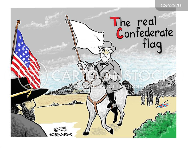 confederate battle flag cartoon