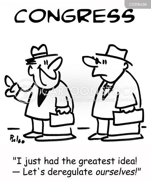 deregulate cartoon