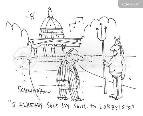 political lobbies cartoon