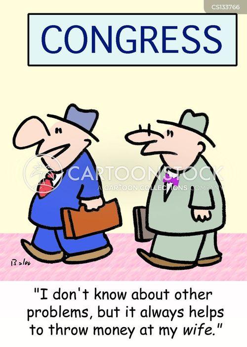 political problem cartoon